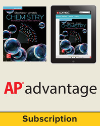 Silberberg, Chemistry: The Molecular Nature of Matter and Change © 2018, 8e (Reinforced Binding) Student AP advantage Bundle (Student Edition with ONboard™(v2), Connect®, SCOREboard™(v2)) 1-year subscription