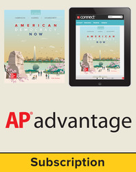 Harrison, American Democracy Now, 2017, 5e (AP Edition) Student AP Advantage Bundle (Student Edition with ONboard(v2), Connect, SCOREboard(v2)), 6-year subscription