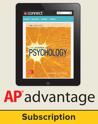 King, The Science of Psychology © 2017, 4e (AP Edition) Student AP Advantage Bundle (Student Edition with ONboard™(v2), Connect®, SCOREboard™(v2)), 1-year subscription