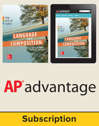Muller, Language & Composition: The Art of Voice, 2014 1e, Student AP Advantage Bundle (Student Edition with ONboard(v2), Connect® Composition, SCOREboard(v2)), 1-year subscription