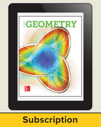 Glencoe Geometry 2018, eTeacher Edition online, 1-year subscription