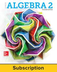 Glencoe Algebra 2 2018, eTeacherEdition online, 1-year subscription
