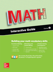 Glencoe Math 2016, Course 2 Interactive Guide for English Learners, Student Edition