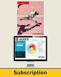 Miller, Intermediate Algebra © 2018, 5e, ALEKS®360 Student Bundle (Student Edition with ALEKS®360), 40-week subscription
