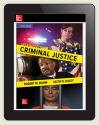 Bohm, Introduction to Criminal Justice © 2018, 9e, ConnectED eBook 1-year subscription