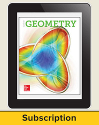 Glencoe Geometry ©2018, XP eStudentEdition online, 6-year subscription