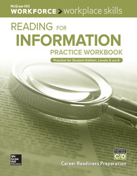 Workplace Skills Practice Workbook, Levels C/D, Reading for Information, 10-pack