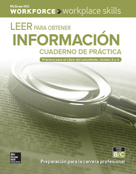 Workplace Skills Practice Workbook, Levels B/C, Reading for Information (Spanish Edition), 10-pack
