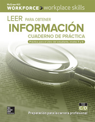 Workplace Skills Practice Workbook, Levels C/D, Reading for Information (Spanish Edition), 10-pack