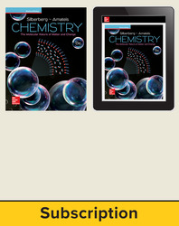 Silberberg, Chemistry: The Molecular Nature of Matter and Change, 2018, 8e (Reinforced Binding) AP advantage Print and Digital bundle, 6-year subscription