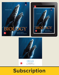 Mader, Biology © 2019, 13e (AP Edition), AP Advantage Deluxe Print and Digital bundle (Student Edition, AP Focus Review Guide, ONboard, Online Student Edition, SCOREboard), 6-year subscription