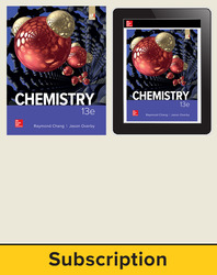 Chang, Chemistry © 2019, 13e (AP Edition) AP advantage Print and Digital bundle (Student Edition, ONboard, Online Student Edition, SCOREboard) 6-year subscription