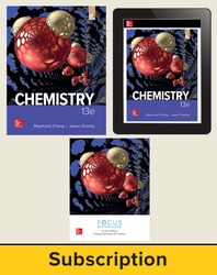 Chang, Chemistry © 2019, 13e (AP Edition) AP advantage Deluxe Print and Digital bundle (Student Edition, AP Focus Review Guide, ONboard, Online Student Edition, SCOREboard) 6-year subscription
