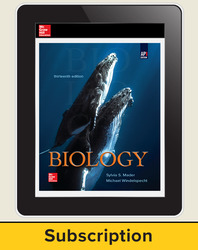 Mader, Biology © 2019, 13e (AP Edition), AP advantage Digital Teacher Subscription (ONboard, Online Teacher Edition, SCOREboard), 1-year subscription