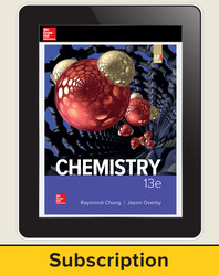 Chang, Chemistry © 2019, 13e (AP Edition) AP advantage Digital Student Subscription (ONboard, Online Student Edition, SCOREboard), 6-year subscription