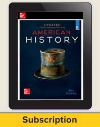 Brinkley, American History: Connecting with the Past UPDATED AP Edition © 2017 AP advantage Digital Student Subscription (ONboard, Online Student Edition, SCOREboard) 1 yr subscription