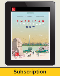 Harrison, American Democracy Now © 2017, 5e (AP Edition) AP advantage Digital Student Subscription (ONboard, Online Student Edition, SCOREboard) 1 yr subscription