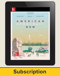 Harrison, American Democracy Now © 2017, 5e (AP Edition) AP advantage Digital Student Subscription (ONboard, Online Student Edition, SCOREboard) 6 yr subscription