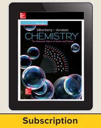 Silberberg, Chemistry: The Molecular Nature of Matter and Change © 2018, 8e (Reinforced Binding) AP advantage Digital Teacher Subscription (ONboard, Online Teacher Edition, SCOREboard), 6-year subscription