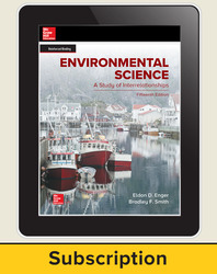 Enger, Environmental Science, 2019, 15e, Online Teacher Edition, 1-year subscription