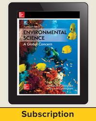 Cunningham, Environmental Science, 2018, 14e (AP Edition) AP advantage Digital Teacher Subscription, 6-year subscription