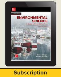 Enger, Environmental Science, 2019, 15e, Online Teacher Edition, 6-year subscription