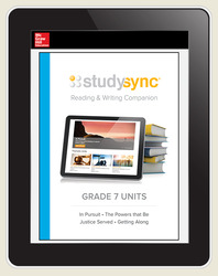 StudySync ELA Grade 7, Student/Units Reading & Writing Companions Bundle, 3 year
