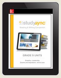 StudySync ELA Grade 9, Student/Units Reading & Writing Companions Bundle, 3 year
