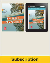 Muller, Language & Composition: The Art of Voice © 2014 1e, Standard Student Bundle (Student Edition with ConnectED eBook and Resources), 6-year subscription