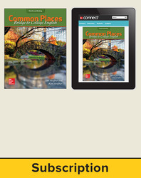 Hoeffner, Common Places: Bridge to College English © 2017, 1e, Standard Student Bundle (Student Edition with Connect®), 1-year subscription