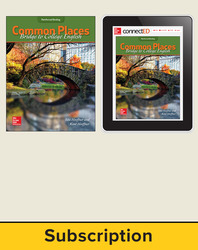 Hoeffner, Common Places: Bridge to College English © 2017, 1e, Student Bundle (Student Edition with ConnectED eBook), 1-year subscription