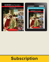 Freiler, AP Achiever Exam Prep Guide European History, © 2017, 2e, Standard Student Bundle (Student Edition with Connect®), 1-year subscription