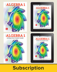Glencoe Algebra 1, Student Bundle + ISG (1 YR Print + 6 YR ISG + 6 YR Digital), 6-year subscription