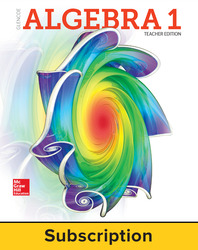 Glencoe Algebra 1 2018, Teacher Bundle (1 YR Print + 1 YR Digital), 1-year subscription
