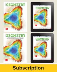 Glencoe Geometry 2018, Student Bundle + ISG (1 YR Print + 6 YR ISG + 6 YR Digital), 6-year subscription