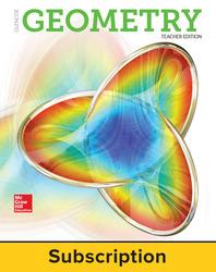Glencoe Geometry 2018, Teacher Bundle (1 YR Print + 1 YR Digital), 1-year subscription
