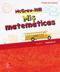 McGraw-Hill My Math, Grade 1, Spanish Teacher Edition, Volume 2