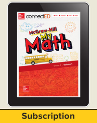 McGraw-Hill My Math, Student Center 6 Year Subscription Grade 1