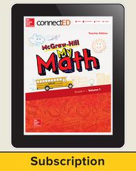 McGraw-Hill My Math, Teacher Center 6 Year Subscription Grade 1