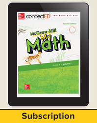 McGraw-Hill My Math, Teacher Center 6 Year Subscription Grade 4