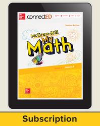 McGraw-Hill My Math, Teacher Center 6 Year Subscription Grade K