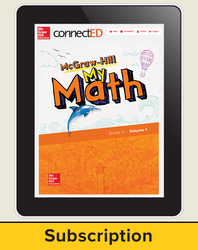 McGraw-Hill My Math, Student Center 1 Year Subscription Grade 3