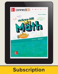 McGraw-Hill My Math, Teacher Center 1 Year Subscription Grade 2