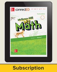 McGraw-Hill My Math, Teacher Center 1 Year Subscription Grade 4