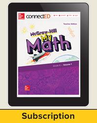 McGraw-Hill My Math, Teacher Center 1 Year Subscription Grade 5