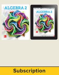 Glencoe Algebra 2 2018, Student Bundle (1 YR Print + 6 YR Digital), 6-year subscription