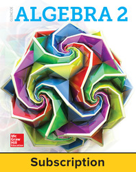 Glencoe Algebra 2 2018, eStudent Edition + ISG Bundle (1-1), 1-year subscription