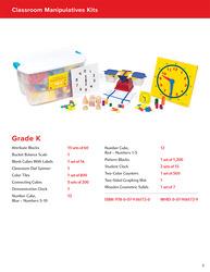 My Math Manipulative Kit, Grade K