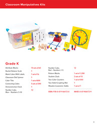 My Math Manipulative Kit, Grade K