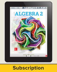 Algebra 2 2018, eStudentEdition online, 6-year subscription